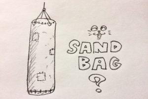 青年海外協力隊 空手 サンドバッグ