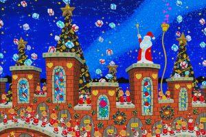 クリスマス アクリル画 ハナムラ・ヒロユキ